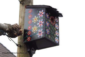 Vogelhuisje met Staphorster stipwerk